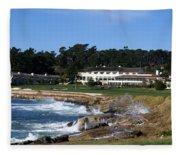 The 18th At Pebble Beach Fleece Blanket