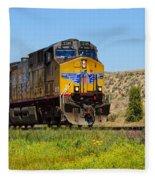 The 5789 Union Pacific Train Fleece Blanket