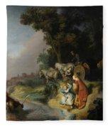 The Abduction Of Europa Fleece Blanket