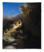 The Abduction Of Proserpina Fleece Blanket
