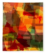 The Abstract States Of America Fleece Blanket