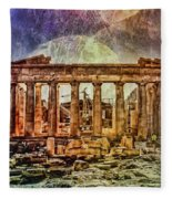 The Acropolis Of Athens Fleece Blanket