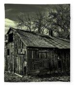The Adirondack Mountain Region Barn Fleece Blanket