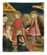 The Adoration Of The Kings And Christ On The Cross Fleece Blanket