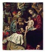 The Adoration Of The Magi, 1620 Oil On Canvas Fleece Blanket