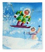 The Aerial Skier - 10 Fleece Blanket