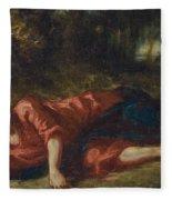 The Agony In The Garden Fleece Blanket