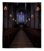 The Aisle Of Princeton Chapel Fleece Blanket