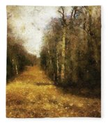 The Allee At Dawn Fleece Blanket