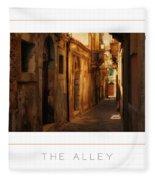 The Alley Poster Fleece Blanket