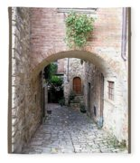 The Alleyway To Home Fleece Blanket