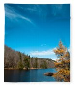 The Alpine Larch Tree On Bald Mountain Pond Fleece Blanket