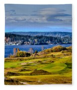 The Amazing Chambers Bay Golf Course - Site Of The 2015 U.s. Open Golf Tournament Fleece Blanket