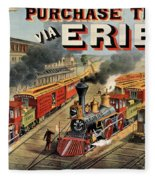 The American Railway Scene  Fleece Blanket