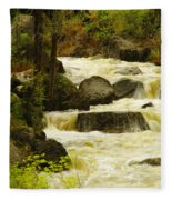 The Amsden River Wyoming Fleece Blanket