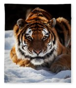 The Amur Tiger Fleece Blanket