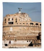 The Angel In The Fortress Fleece Blanket