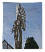 The Angel Of Bargoed 2 Fleece Blanket