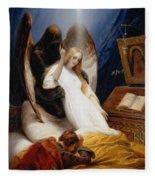 The Angel Of Death Fleece Blanket