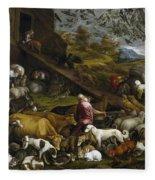 The Animals Entering Noah's Ark Fleece Blanket