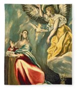 The Annunciation, C.1595-1600 Oil On Canvas Fleece Blanket