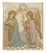 The Annunciation Of The Blessed Virgin Mary Fleece Blanket