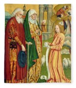 The Annunciation To Joachim And Anne, From The Dome Altar, 1499 Fleece Blanket