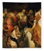 The Anointment Of David Fleece Blanket