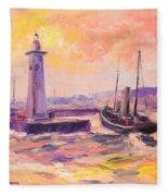 The Anstruther Harbour Fleece Blanket