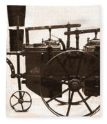 The Antique Farming Machine  Fleece Blanket
