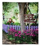 The Antique Rose Emporium Fleece Blanket