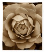 The Antique Rose Flower Fleece Blanket