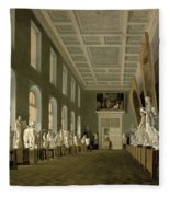 The Antiquities Gallery Of The Academy Of Fine Arts, 1836 Oil On Canvas Fleece Blanket