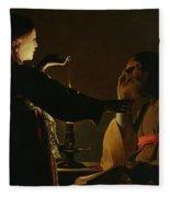The Appearance Of The Angel To Saint Joseph Fleece Blanket