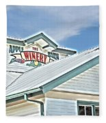 The Apple Barn Winery Pigeon Forge Tn Fleece Blanket