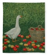 The Apple Basket Fleece Blanket