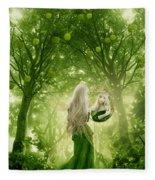 The Apple Fairy Fleece Blanket
