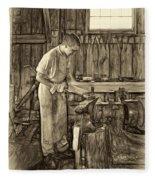 The Apprentice - Paint Sepia Fleece Blanket