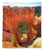 The Arch At Bryce Fleece Blanket
