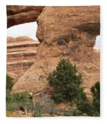 The Arches Of Double O Arch  Fleece Blanket