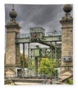 The Art Nouveau Ships Elevator - Portal View Fleece Blanket