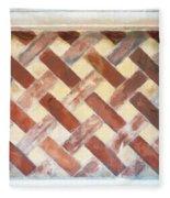 The Art Of Brick Weaving  Fleece Blanket