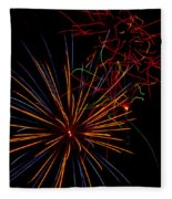 The Art Of Fireworks  Fleece Blanket