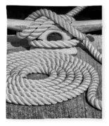 The Art Of Rope Lying Fleece Blanket