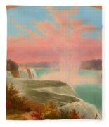 The Artist At Niagara Fleece Blanket