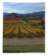 The Artist In The Vineyard Fleece Blanket