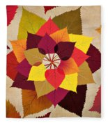 The Artistry Of Fall Fleece Blanket