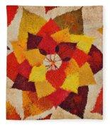 The Artistry Of Fall Klimt Homage Fleece Blanket