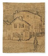 The Artists House In Arles Fleece Blanket