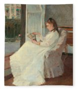 The Artist's Sister At A Window Fleece Blanket